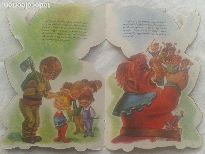 Libros de segunda mano: Cuento de Pulgarcito troquelado - Foto 3 - 221306358