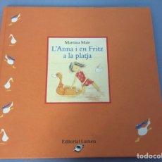 Libros de segunda mano: L'ANNA I EN FRITZ A LA PLATJA. Lote 222312136