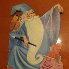 Libros de segunda mano: EL MAGO MERLIN CUENTO TROQUELADO WALT DISNEY 1964 1A. EDICIÓN EDIT. EDIGRAF JUGUETE ORIGINAL. Lote 222827455