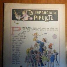 Libros de segunda mano: CUENTO INFANTIL AÑOS 40´S, LA INFANCIA DE PIRULETE - XI.- EN COLORES RAMÓN SOPENA - DIBUJOS ASHA. Lote 223069800