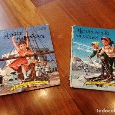 Libros de segunda mano: 2 LIBROS DE MARTITA COLECCIÓN CAMPANILLA. Lote 223669110
