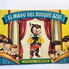 Libros de segunda mano: SABATÉS / EL MAGO DEL BOSQUE AZUL / CUENTOS ANIMADOS / ED. BRUGUERA AÑOS 50 / CUBIERTA MOVIL. Lote 233010315