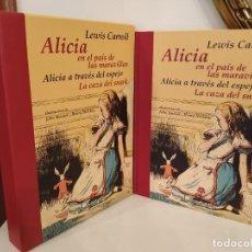 Libros de segunda mano: ALICIA EN EL PAIS DE LAS MARAVILLAS ALICIA A TRAVES DEL ESPEJO LA CAZA DE SNARK J.TENNIEL Y H HOLID. Lote 233386470