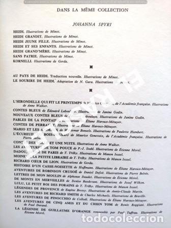 Libros de segunda mano: ANTIGÚO CUENTO DE JOHANNA SPYRI - AU PAYS DE HEIDI - EDITADO EN FRANCÉS - Foto 3 - 238072760