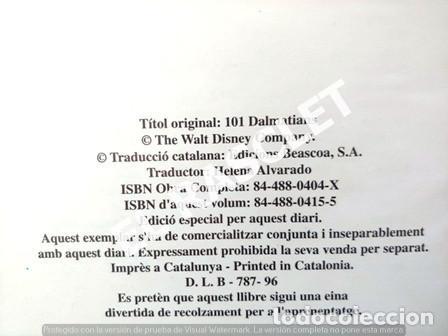 Libros de segunda mano: ANTIGÜO LIBRO - DISNEY - 101 DÀLMATES / 101 DALMATIANS - EDITADO EN CATALÁN / INGLES - EN COMIC - Foto 3 - 238623940