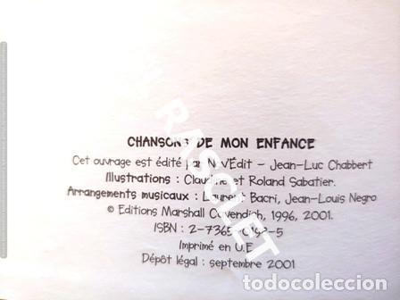 Libros de segunda mano: ANTIGÜO LIBRO - CHANSONS DE MON ENFANCE - CONTIENE CD - EDITADO EN FRANCÉS - Foto 2 - 238636615