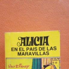 Libri di seconda mano: ALICIA EN EL PAÍS DE LAS MARAVILLAS. WALT DISNEY. EDITORIAL BRUGUERA. MINILIBRO. MEDIDA 7*5*2.5 CM. Lote 242131135