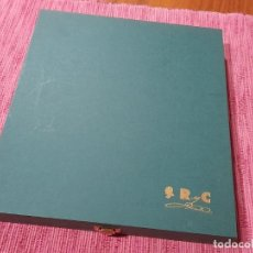 Libri di seconda mano: ESTUCHE CON LIBRO Y ABRECARTAS DORADO RAMON Y CAJAL. Lote 243496190