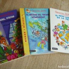 Libros de segunda mano: 3,GERÓNIMO STILTON. CATALÀ. IMPECABLES !. Lote 244730985