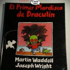 Libros de segunda mano: EL PRIMER MORDISCO DE DRACULIN, ED. AKAL AÑO 1989. Lote 244775550
