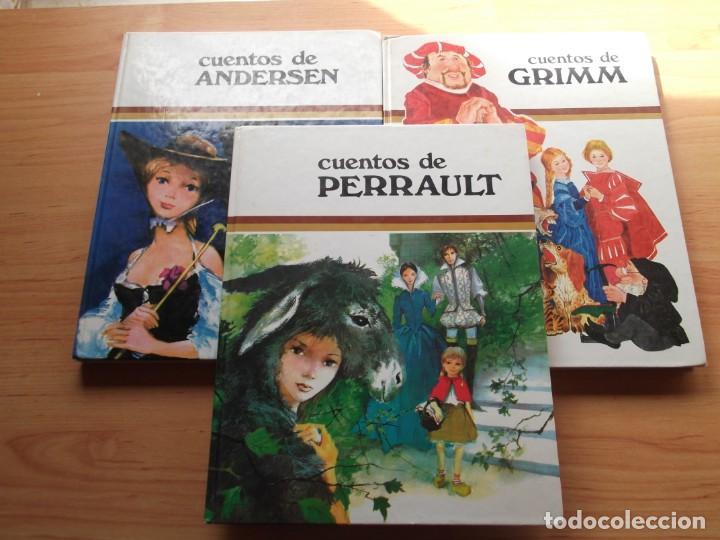 3 LIBROS DE CUENTOS ANDERSEN,GRIM Y PERRAULT DE COLECCIÓN TUS AMIGOS (Libros de Segunda Mano - Literatura Infantil y Juvenil - Cuentos)