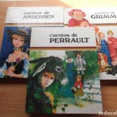 Libros de segunda mano: 3 LIBROS DE CUENTOS ANDERSEN,GRIM Y PERRAULT DE COLECCIÓN TUS AMIGOS. Lote 246162080