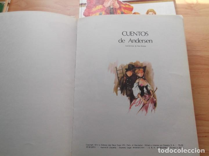 Libros de segunda mano: 3 Libros de cuentos Andersen,Grim y Perrault de colección tus amigos - Foto 4 - 246162080