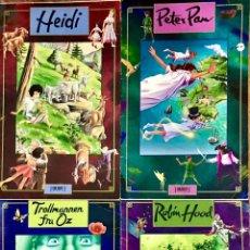 Libros de segunda mano: LOTE 4 CUENTOS GRAN FORMATO PETER PAN HEIDI MAGO DE OZ ROBIN HOOD LIBROS IDIOMA ALEMAN TORMONT. Lote 246172605