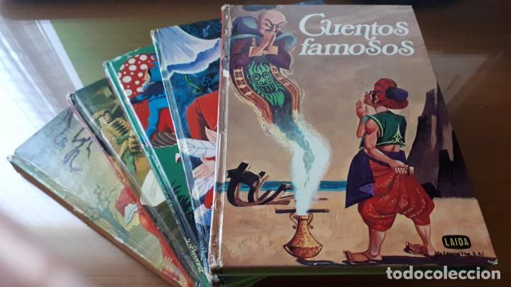 LOTE 5 LIBROS CUENTOS FAMOSOS - EDICIONES LAIDA - EDITORIAL FHER - AÑOS 1977. (Libros de Segunda Mano - Literatura Infantil y Juvenil - Cuentos)