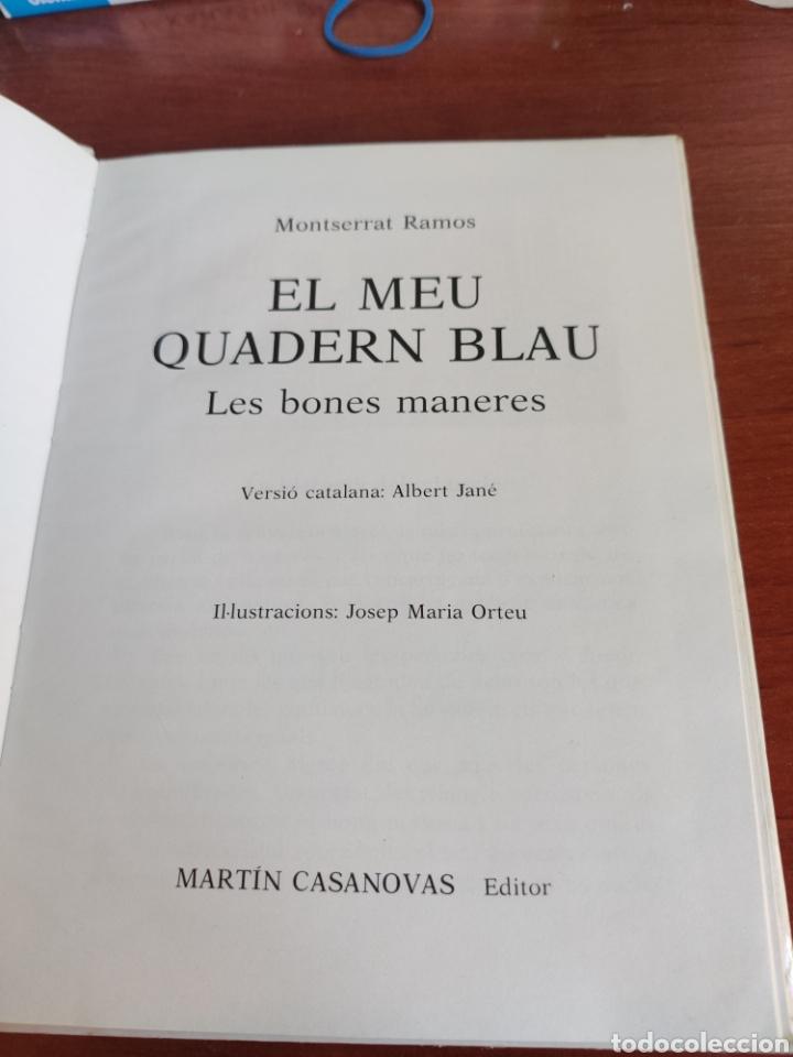 Libros de segunda mano: El Meu Quadern Blau les bones maneres - Foto 4 - 248698075