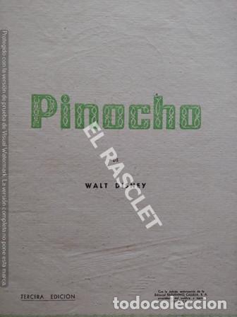 Libros de segunda mano: ANTIGÜO LIBRO CUENTO - AVENTURAS DE PINOCHO DE WALT DISNEY - 3ª EDICION - Foto 2 - 251400100