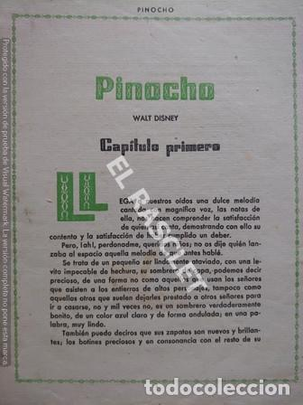 Libros de segunda mano: ANTIGÜO LIBRO CUENTO - AVENTURAS DE PINOCHO DE WALT DISNEY - 3ª EDICION - Foto 4 - 251400100