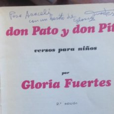 Libros de segunda mano: GLORIA FUERTES LIBRO INFANTIL DEDICADO. Lote 253177900