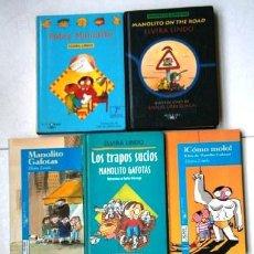 Libros de segunda mano: LOTE DE MANOLITO GAFOTAS 7T POR ELVIRA LINDO DE ED. ALFAGUARA / CÍRCULO DE LECTORES 1994-2002. Lote 253968160