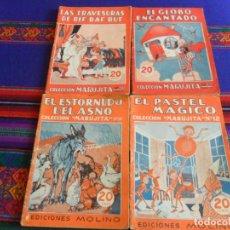 Libros de segunda mano: COLECCIÓN MARUJITA NºS 12 52 97 103. EDICIONES MOLINO 1934. 20 CÉNTIMOS.. Lote 254208215