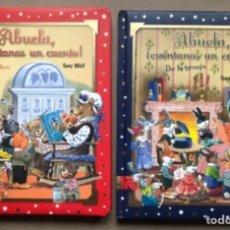 Libros de segunda mano: ABUELA, ¡CUÉNTANOS UN CUENTO! DE LA SELVA Y DE LA GRANJA. TONY WOLF. SAN PABLO 2007. 2 LIBROS.. Lote 138173358