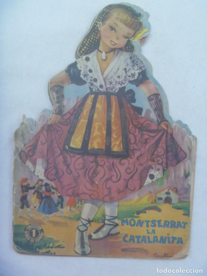 CUENTO TROQUELADO : MONTSERRAT LA CATALANITA . DIBUJOS DE CONSTANZA. AÑOS 60 (Libros de Segunda Mano - Literatura Infantil y Juvenil - Cuentos)