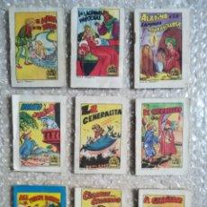 Libros de segunda mano: 9 TESORO DE CUENTOS, BRUGUERA - PUBLICIDAD CAJA DE PENSIONES - PJRB. Lote 255652575