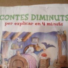 Libros de segunda mano: CONTES DIMINUTS PER EXPLICAR EN 4 MINUTS.CATALAN.. Lote 261561855