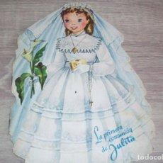 Libros de segunda mano: CUENTO TROQUELADO DURVE LA PRIMERA COMUNION DE JULITA 1958 ILUSTRACION MARIA-EUGENIA. Lote 261807835