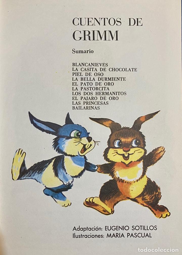 Libros de segunda mano: 1970, CUENTOS DE GRIMM. Adaptación de Eugenio Sotillo. - Foto 3 - 262821745