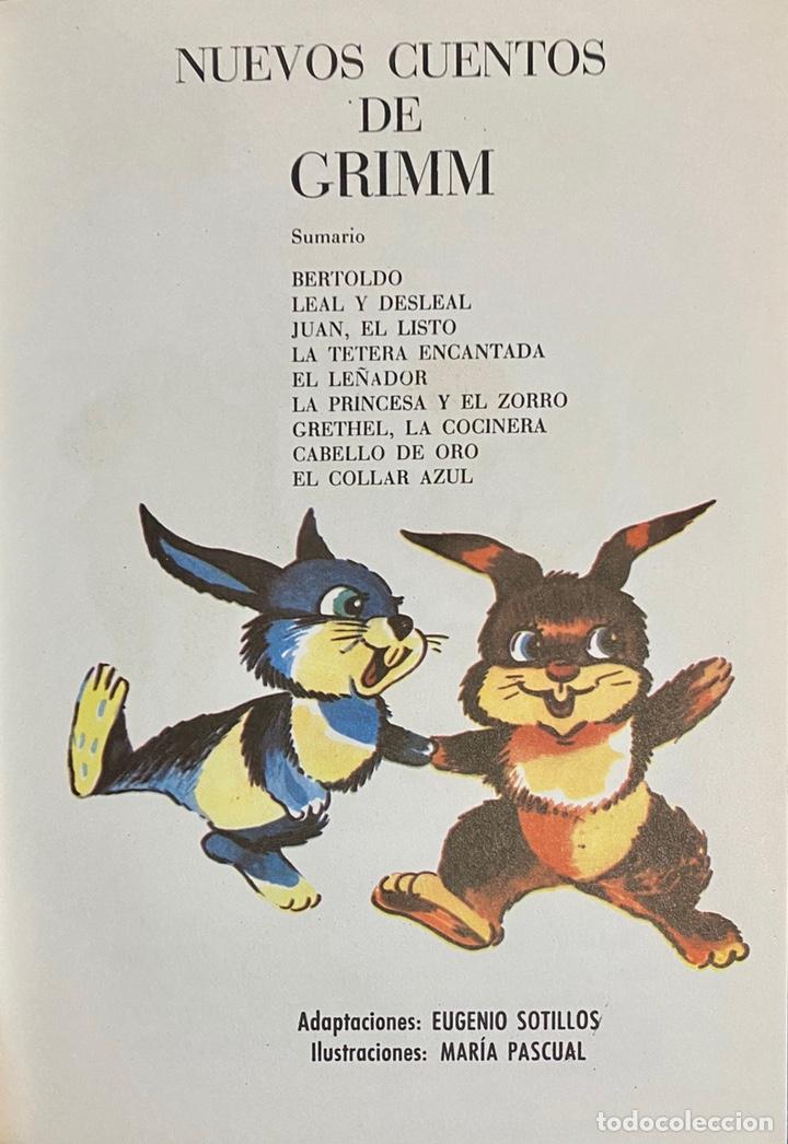 Libros de segunda mano: 1970, NUEVOS CUENTOS DE GRIMM. Adaptación de Eugenio Sotillo. - Foto 3 - 262822150