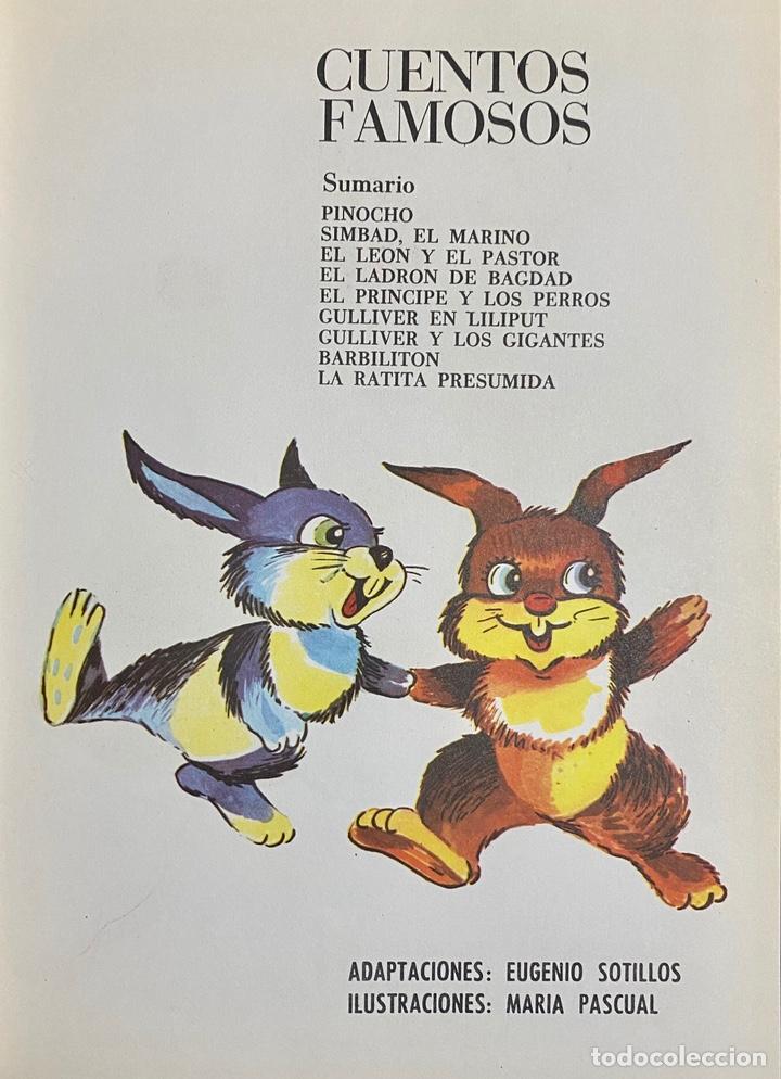 Libros de segunda mano: 1968, CUENTOS FAMOSOS. Adaptación de Eugenio Sotillo. - Foto 3 - 262822560