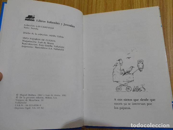 Libros de segunda mano: Tres pájaros de cuenta (Miguel Delibes) 1ª edición - Foto 4 - 262824735