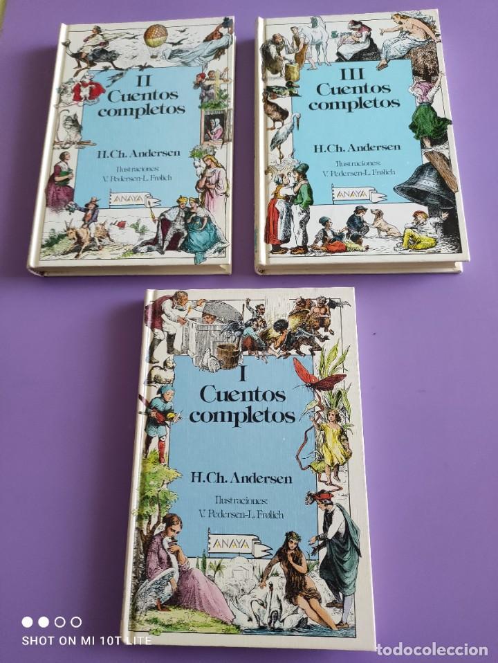 JOYA/MUY DIFICIL. CUENTOS COMPLETOS. H.CH.ANDERSEN. ANAYA.1°EDICION. LOS 3 TOMOS. 1989. (Libros de Segunda Mano - Literatura Infantil y Juvenil - Cuentos)
