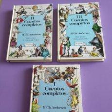 Libros de segunda mano: JOYA/MUY DIFICIL. CUENTOS COMPLETOS. H.CH.ANDERSEN. ANAYA.1°EDICION. LOS 3 TOMOS. 1989.. Lote 266779394