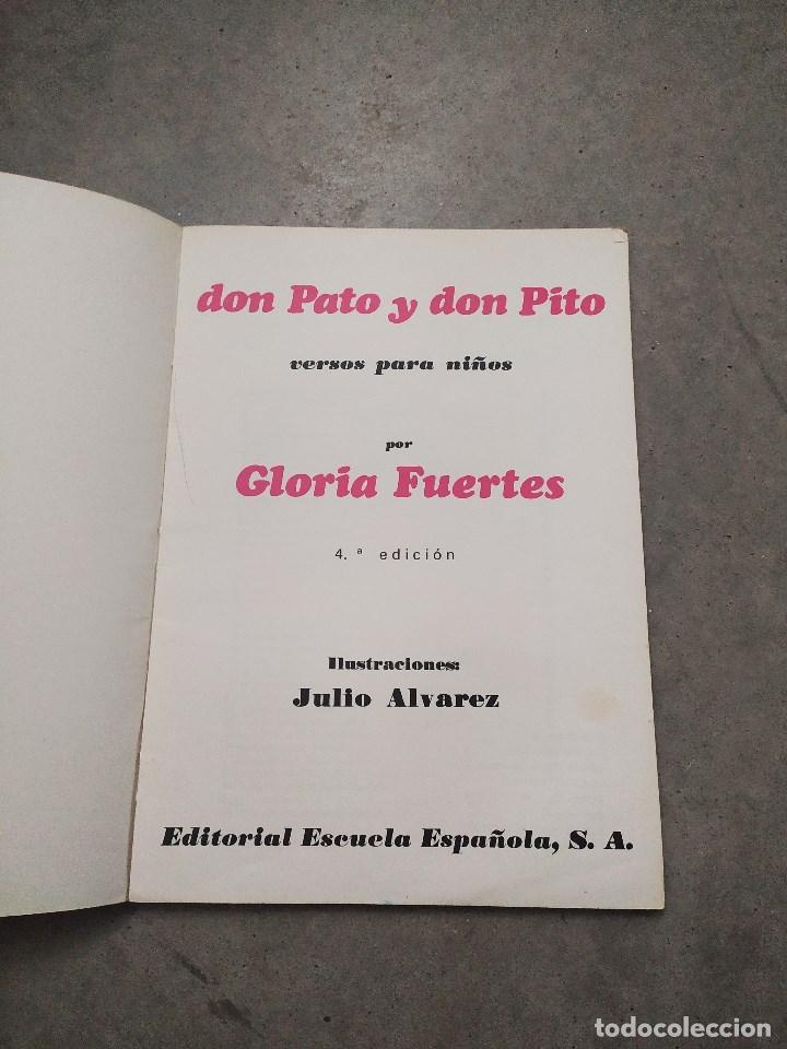 Libros de segunda mano: GLORIA FUERTES - LA OCA LOCA - EL DRAGÓN TRAGÓN - DON PATO Y DON PITO - LA MOMIA TIENE CATARRO - Foto 9 - 267284704