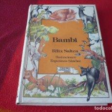 Libros de segunda mano: BAMBI ( FELIX SALTEN ) 1ª EDICION 1985 ANAYA LAURIN ILUSTRACIONES ESPERANZA SANCHEZ. Lote 267316224