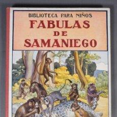 Libros de segunda mano: FABULAS DE SAMANIEGO - FELIX MARIA SAMANIEGO - RAMON SOPENA EDITOR. Lote 268845359