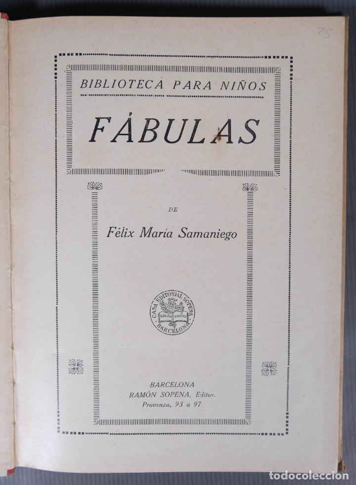 Libros de segunda mano: Fabulas de Samaniego - Felix Maria Samaniego - Ramon Sopena editor - Foto 4 - 268845359