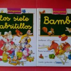 Libros de segunda mano: LOTE DE DOS CUENTOS PARA NIÑOS, COLEC.PICTOGRAMAS , ED. SUSAETA, TAPA DURA. Lote 269199763