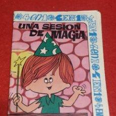 Libros de segunda mano: UNA SESIÓN DE MAGIA, CUADERNILLO INFANTIL EDITORIAL 4 EN 1. Lote 269806183