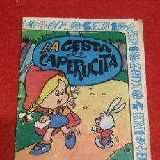 Libros de segunda mano: LA CESTA DE CAPERUCITA, CUADERNILLO INFANTIL EDITORIAL 4 EN 1. Lote 269806693