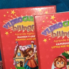 Libros de segunda mano: PAREJA DE VIDEO CUENTOS INFANTILES BILINGÜES, CAPERUCITA ROJA Y, HANSEL Y GRETEL,SUSAETA,LIBRO+VHS. Lote 270943538