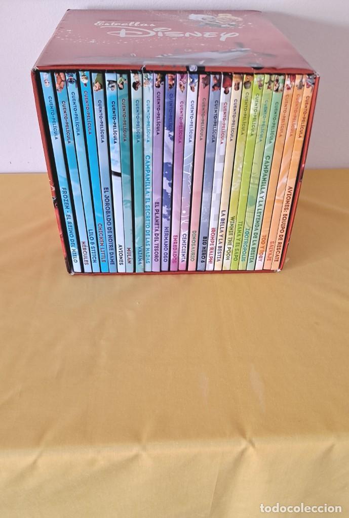 ESTRELLAS DISNEY - CAJA CON 24 CUENTOS+PELÍCULA EN DVD - EL PAIS 2018 (Libros de Segunda Mano - Literatura Infantil y Juvenil - Cuentos)