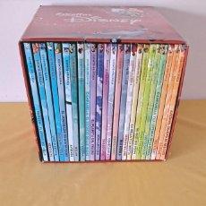 Libros de segunda mano: ESTRELLAS DISNEY - CAJA CON 24 CUENTOS+PELÍCULA EN DVD - EL PAIS 2018. Lote 271948883