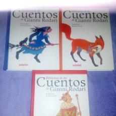 Libros de segunda mano: BIBLIOTECA DE LOS CUENTOS DE GIANNI RODARI, EDEBÉ, PERFECTO ESTADO. Lote 272935193