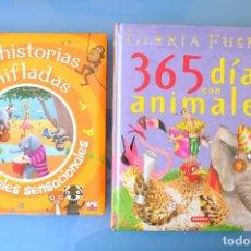 Libros de segunda mano: 365 DIAS CON ANIMALES.GLORIA FUERTES. SUSAETA + 13 HISTORIAS CHIFLADAS DE ANIMALES SENSACIONALES.. Lote 275585153