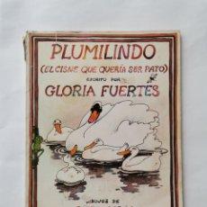 Libros de segunda mano: PLUMILINDO EL CISNE QUE QUERÍA SER PATO GLORIA FUERTES 1983. Lote 275852293