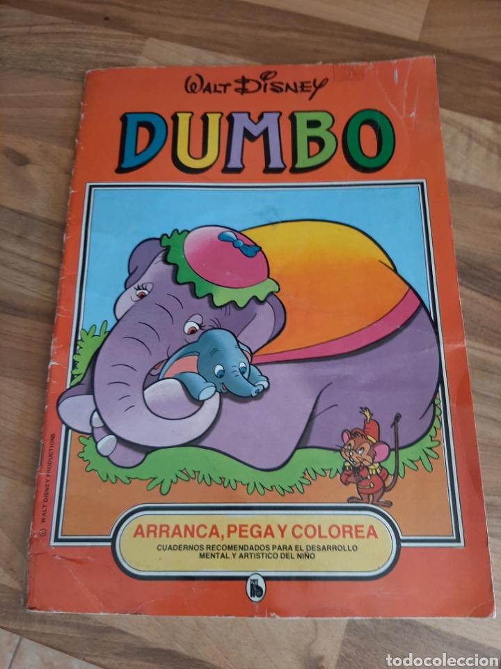 1973 DUMBO ARRANCA , PEGA Y COLOREA (Libros de Segunda Mano - Literatura Infantil y Juvenil - Cuentos)
